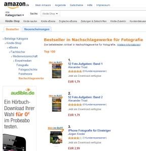iPHONE FOTOGRAFIE FÜR EINSTEIGER bei Amazon auf Platz 3